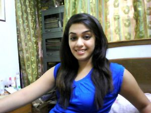 The Bangalore escorts girl in Blue dress